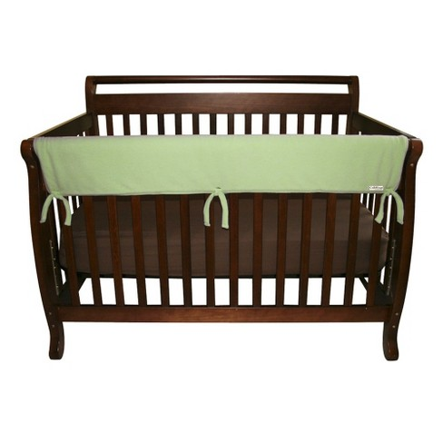 "Trend Lab 51"" Fleece Front Rail Cover for Convertible Cribs - Sage - image 1 of 2"