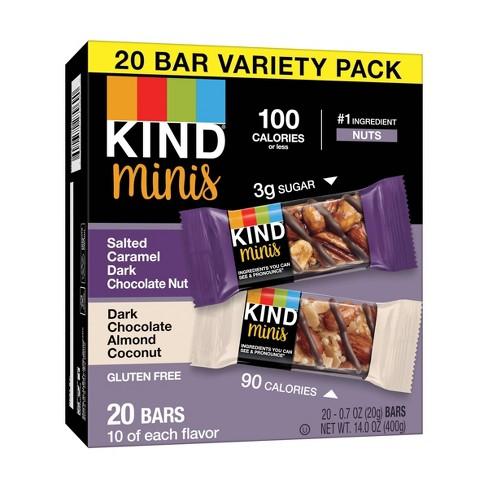 KIND Minis Salted Caramel Dark Chocolate + Dark Chocolate Almond Coconut - 20ct - image 1 of 4