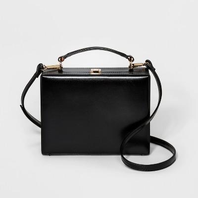 86b28e8d30 Hinge Box Crossbody Bag – A New Day™ Black – Target Inventory ...