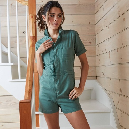Women's Short Sleeve Boilersuit - Universal Thread™ - image 1 of 4