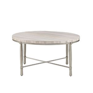 Gretna Round Coffee Table Silver Cream Target