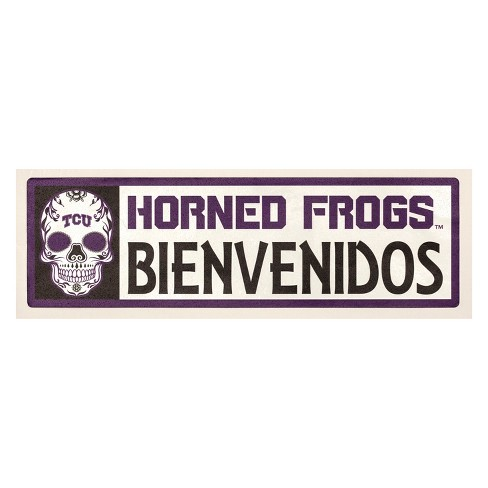 NCAA TCU Horned Frogs Outdoor Bienvenidos Step Decal - image 1 of 2