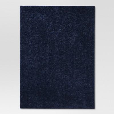Navy Blue Basic Shag Area Washable Rug 4'x5'6  - Project 62™