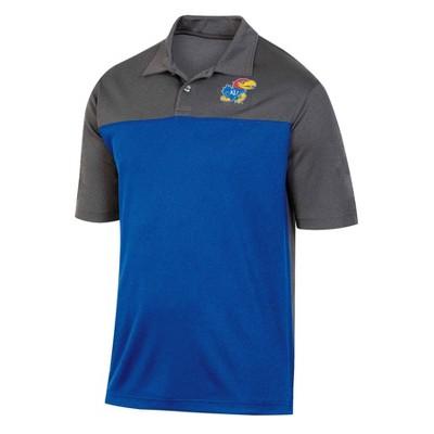 NCAA Kansas Jayhawks Men's Short Sleeve Polo Shirt