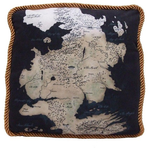 Factory Entertainment Game of Thrones Westeros Map Throw Pillow: North on game of thrones map print, game of thrones world map printable, game of thrones subway map, game of thrones map wallpaper, game of thrones detailed map, game of thrones map of continents, game of thrones astapor map, harrenhal game of thrones map, game of thrones essos map, game of thrones map clans, game of thrones map labeled, the citadel game of thrones map, crown of thrones map, game of thrones ireland map, game of thrones map poster, from game of thrones map, game of thrones map the south, westeros cities map, game of thrones map official,
