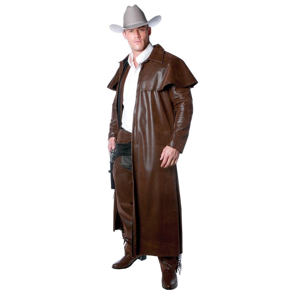 Men's Duster Coat Costume Brown One Size