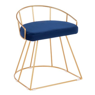 Canary Glam/Contemporary Vanity Stool   Lumi Source by Lumi Source