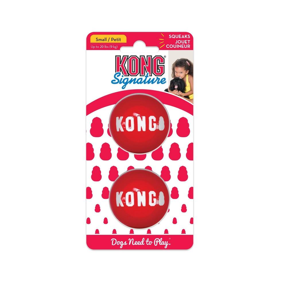 KONG Signature Balls Dog Toy - 2pk - S