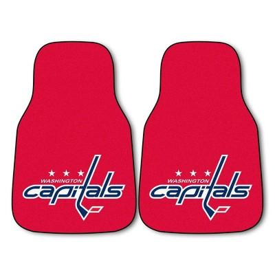 NHL Washington Capitals Carpet Car Mat Set - 2pc