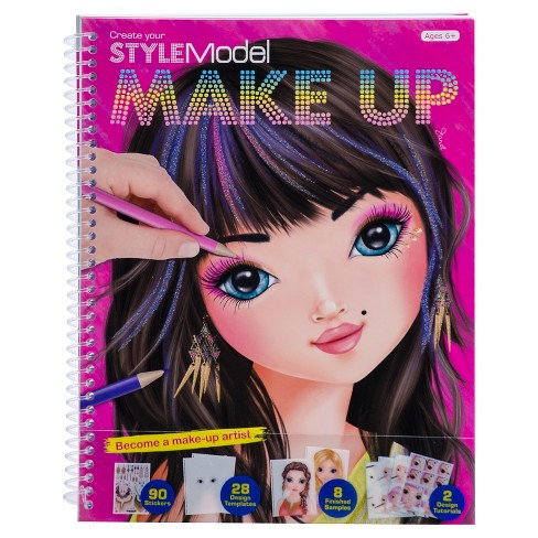 StyleModel Makeup Sketch Pad with Stencils - image 1 of 1