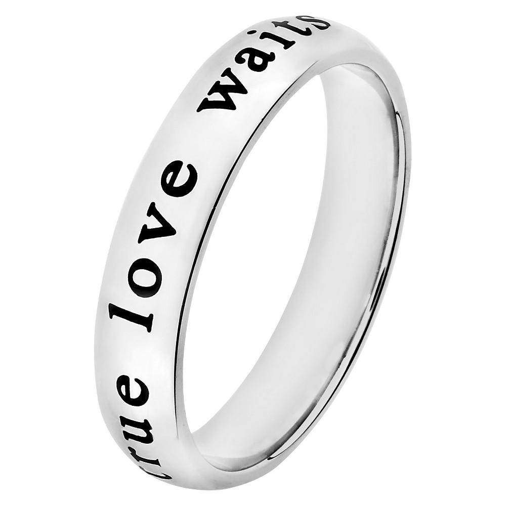 Elya 'True Love Waits' Stainless Steel Ring, Women's, Size: 12, Silver