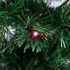 Northlight 6' Prelit Artificial Christmas Tree Full LED Color Changing Fiber Optic with Star Tree Topper - Multicolor Lights - image 2 of 2
