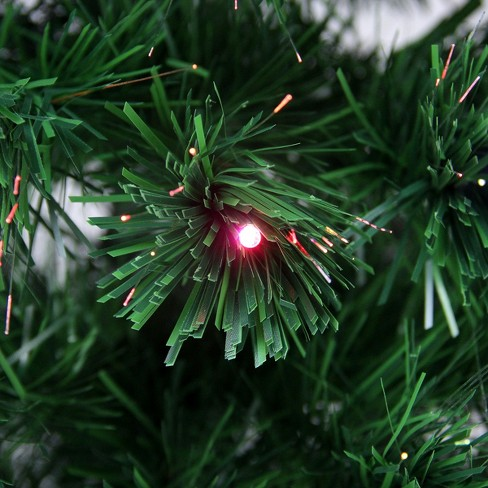 Northlight 3 Prelit Artificial Christmas Tree Led Color Changing Fiber Optic With Star Tree Topper