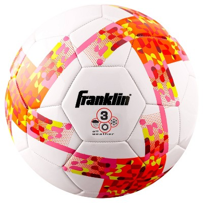 Franklin Sports Competition Size 3 Soccer Ball - White/Pink