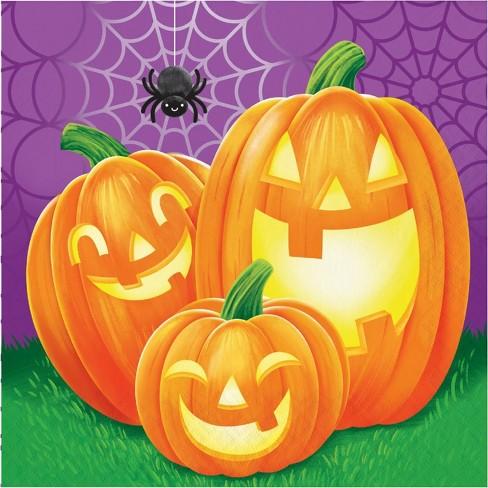 48ct Halloween Pumpkins Napkins Target