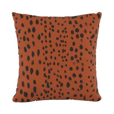 Linen Leopard Square Throw Pillow - Skyline Furniture