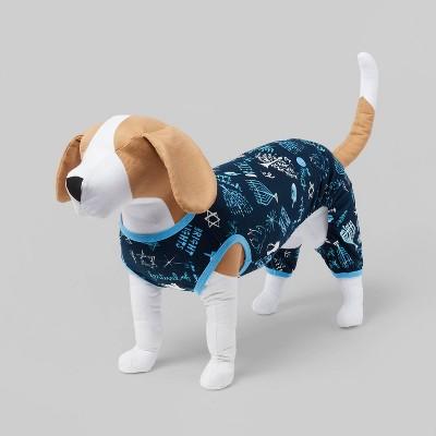 Hanukkah Matching Family Dog and Cat Pajama - Blue