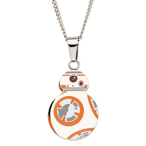 "Disney® Star Wars BB8 Stainless Steel Cutout Pendant with Chain (22"") - image 1 of 3"