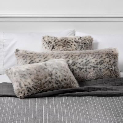 Faux Fur Decorative Throw Pillow Collection Animal Print - Threshold™