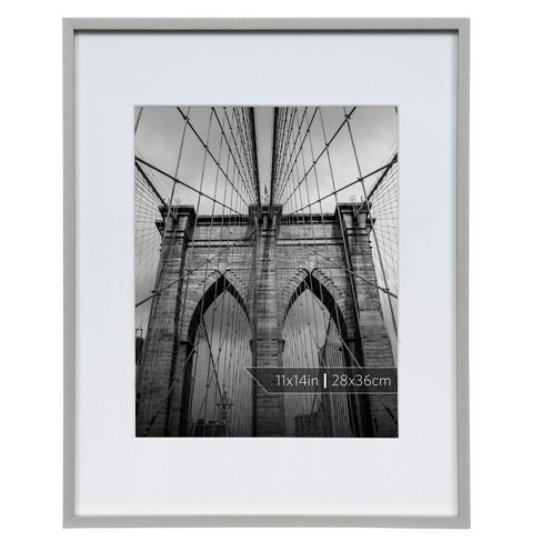 "Burnes of Boston 8"" x 10"" Aluminum Gallery in Polished Finish Matte Single Image Frame Silver - image 1 of 3"