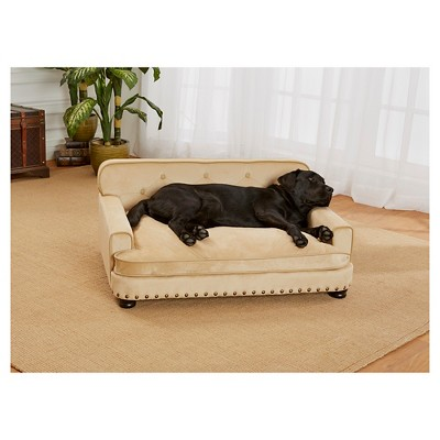 Bon Enchanted Home Pet Ultra Plush Library Pet Sofa   Caramel