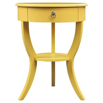 Edna 1-Drawer Nightstand Lemon -Inspire Q