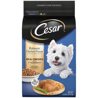 Cesar Rotisserie Chicken Flavor Gourmet Dry Dog Food - 5lbs
