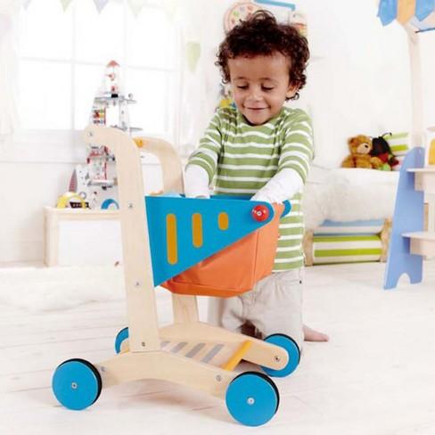 Hape Kids Wooden Shopping Cart