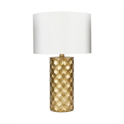 "21"" The Hive Gilded Silverwood Table Lamp with Shade (Includes CFL Light Bulb)Gold - Decor Therapy"