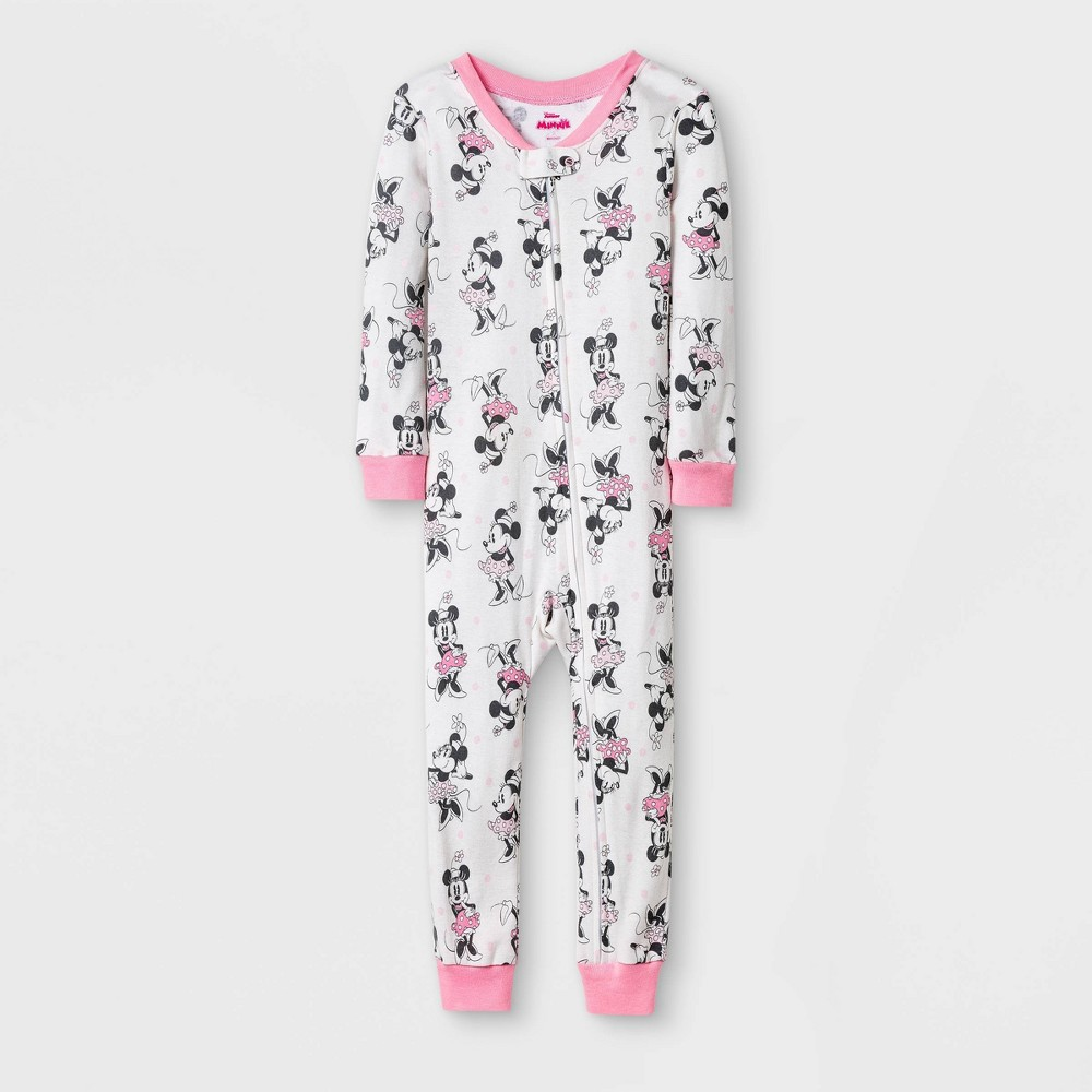 Toddler Girls 39 Minnie Mouse Union Suit White 12m