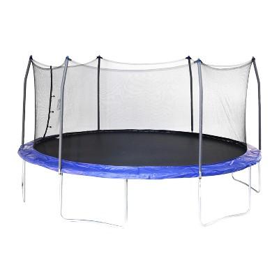 Skywalker Trampolines 17' Oval Trampoline with Enclosure - Blue