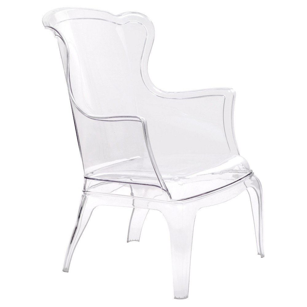 Transparent Versailles Style Chair - Clear - Zm Home