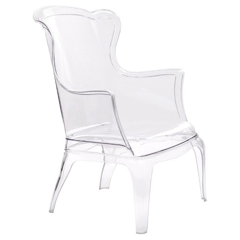 Transparent Versailles Style Chair - Clear - Zm Home - image 1 of 5
