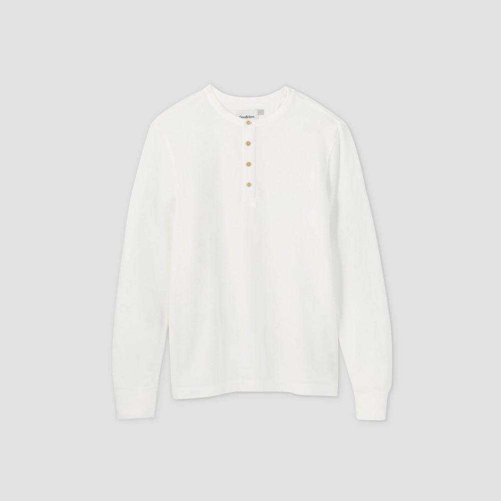 Discounts Men's Standard Fit Textured Long Sleeve Henley T-Shirt - Goodfellow & Co™
