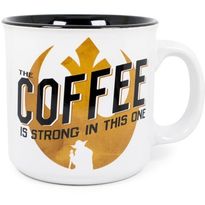 Silver Buffalo Star Wars Coffee is Strong In This One 20oz Ceramic Camper Coffee Mug