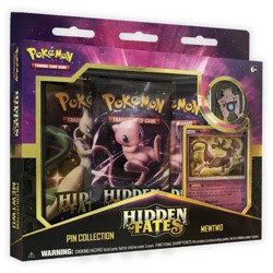 Pokemon Hidden Fates Trading Card Game Pin Collection Mewtwo
