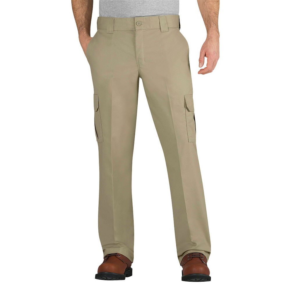 Dickies Men's Regular Straight Fit Flex Twill Cargo Pants- Desert 36X32, Desert Sand