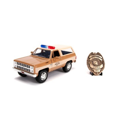 Hollywood Rides Stranger Things 1:24 Diecast - 1980 Chevy K5 Blazer with Badge
