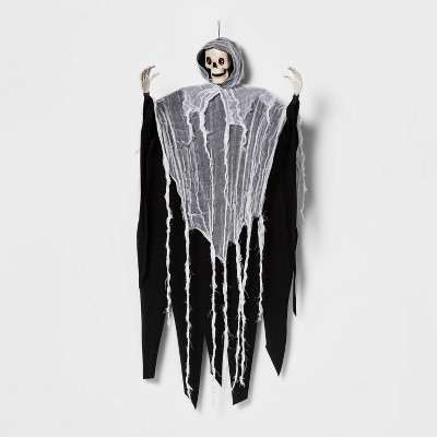 Skeleton Face with Black/White Robe Halloween Decorative Mannequin - Hyde & EEK! Boutique™