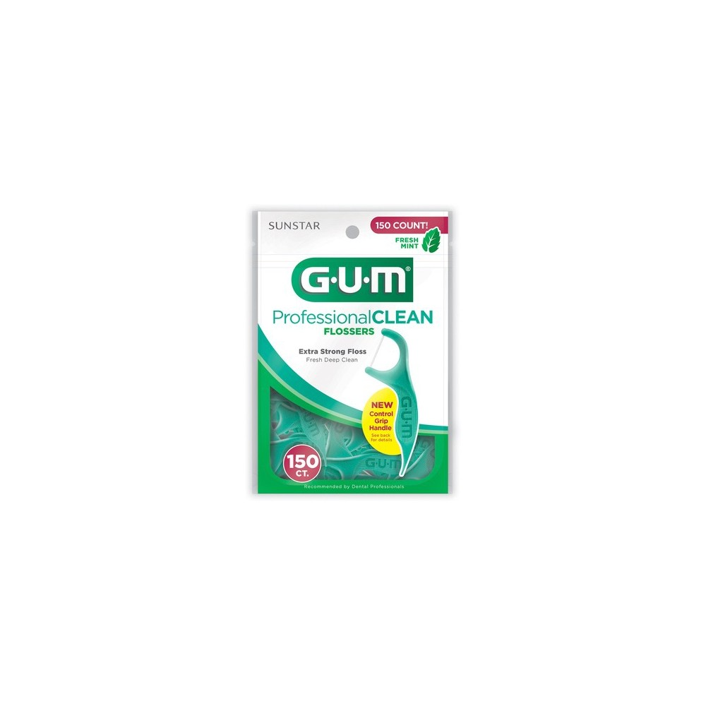 Gum Professional Clean Flossers with a Fresh Mint Flavor, 150ct