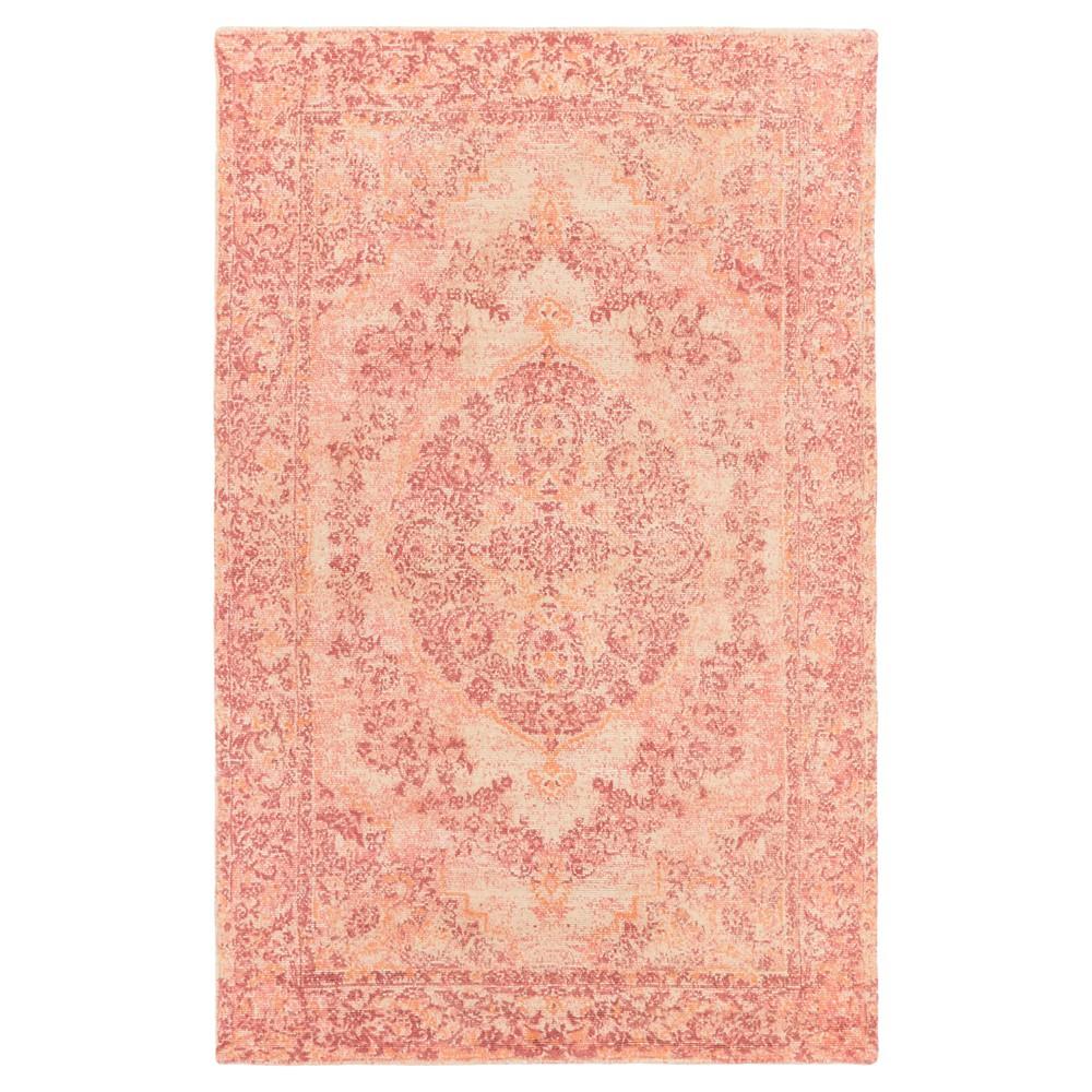 Rose (Pink) Damask Loomed Area Rug (8'x10') - Surya