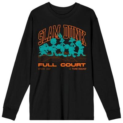 Space Jam 2 A New Legacy Slam Dunk Mens Black Long Sleeve Shirt