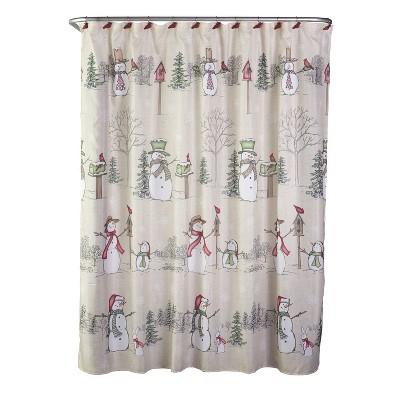 Snowman Land Shower Curtain and Hook Set - SKL Home