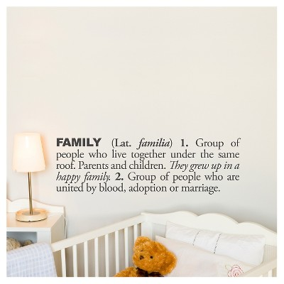 Family Definition Wall Decal - Almost Black
