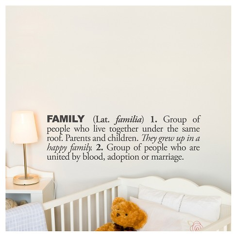 Family Definition Wall Decal - Almost Black - image 1 of 2