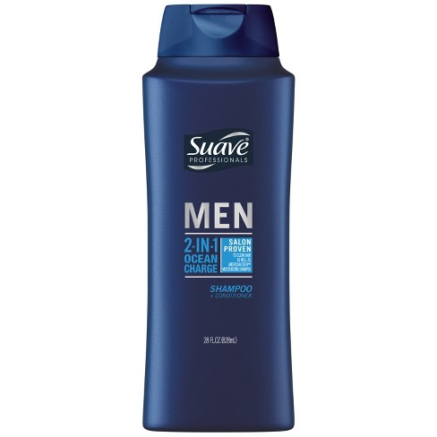 Suave Men 2 in 1 Ocean Charge Shampoo and Conditioner - 28oz - image 1 of 4