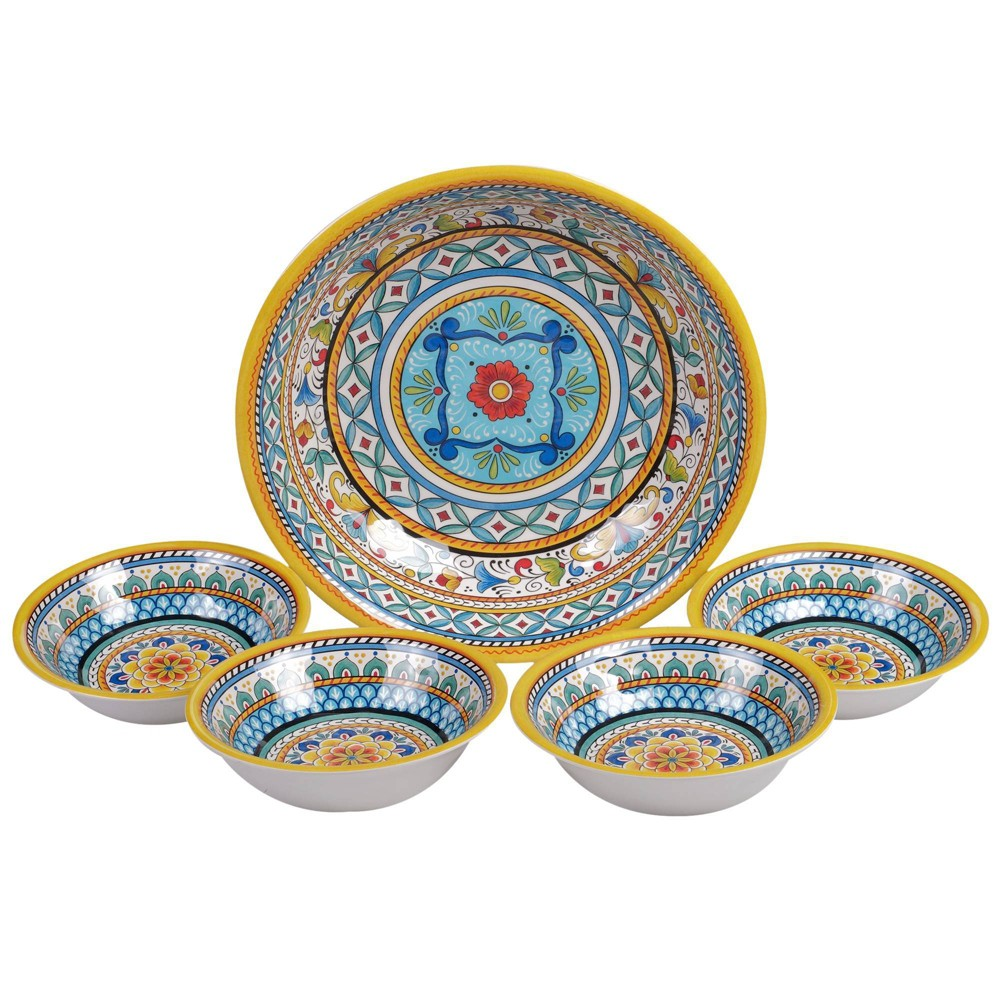 Image of 5pc Melamine Portofino Salad Serving Set - Certified International