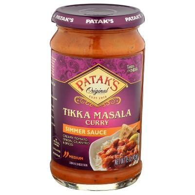 Patak's Tikka Masala Curry Simmer Sauce 15oz