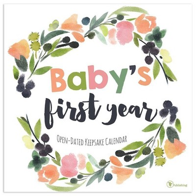 Undated Wall Calendar Baby's First Year Floral