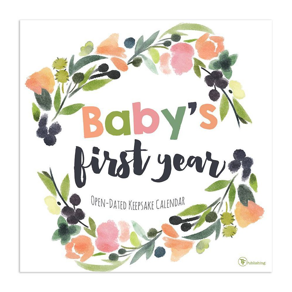Image of Undated Wall Calendar Baby's First Year Floral